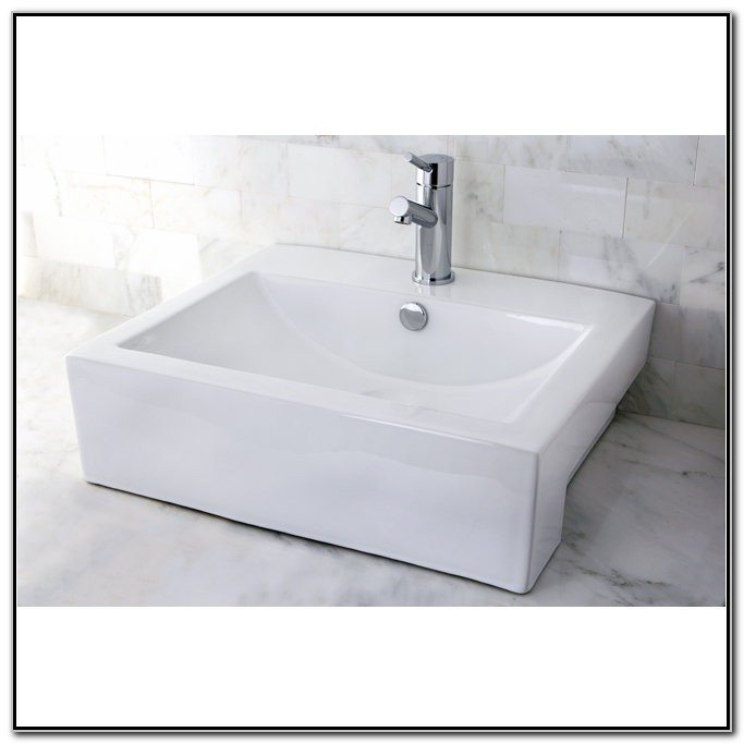 Rectangular Vessel Sink With Overflow