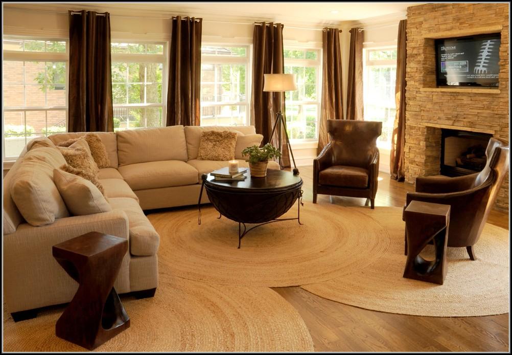 Round Jute Rug Living Room