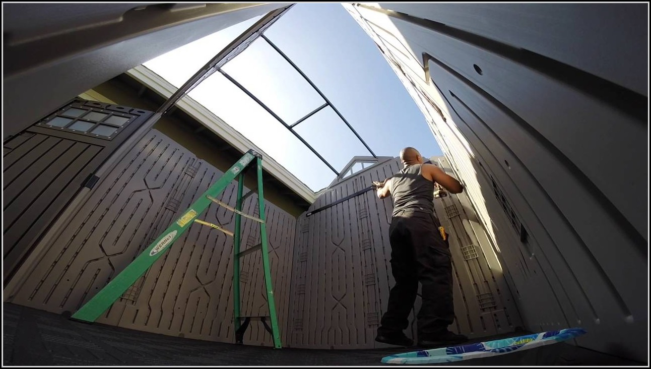 Rubbermaid Storage Shed Install