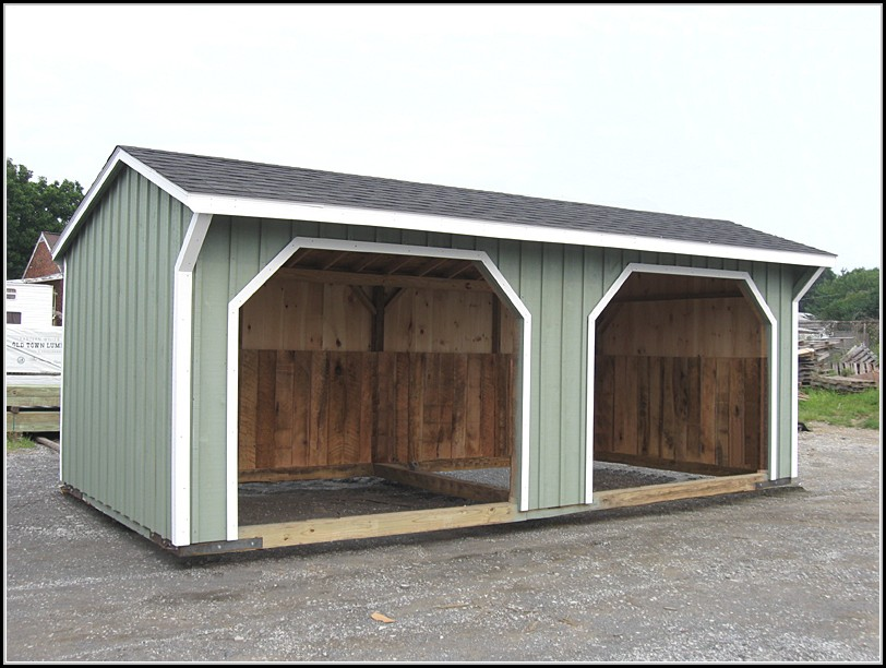 Run In Horse Sheds Plans