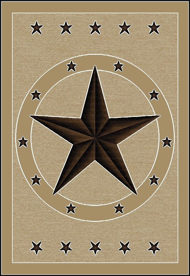 Rustic Texas Star Rugs