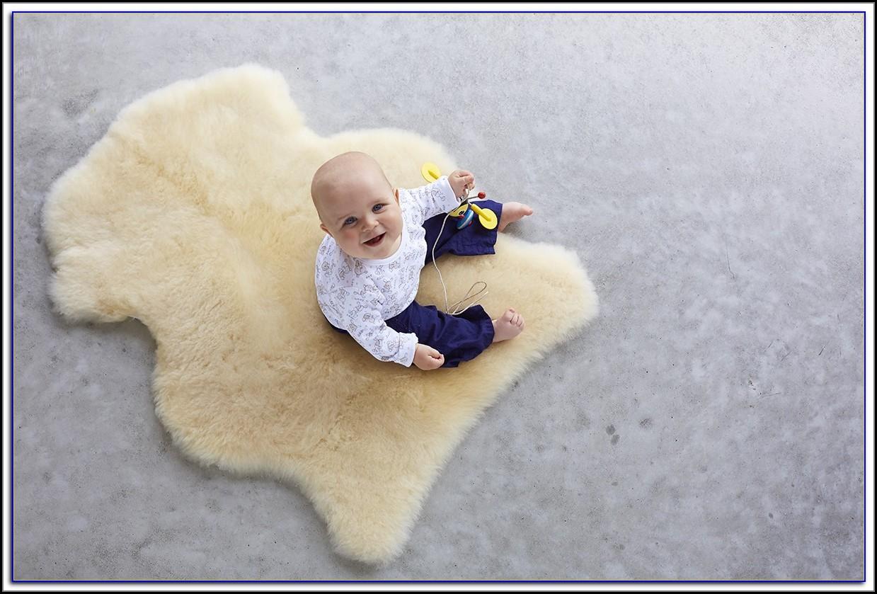 Sheepskin Baby Rug Safety