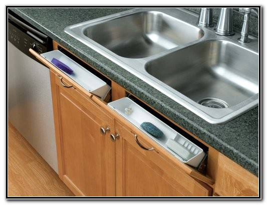 Sink Front Tip Out Trays Stainless Steel