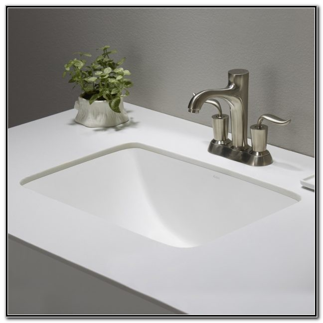 Small Round Undermount Bathroom Sinks