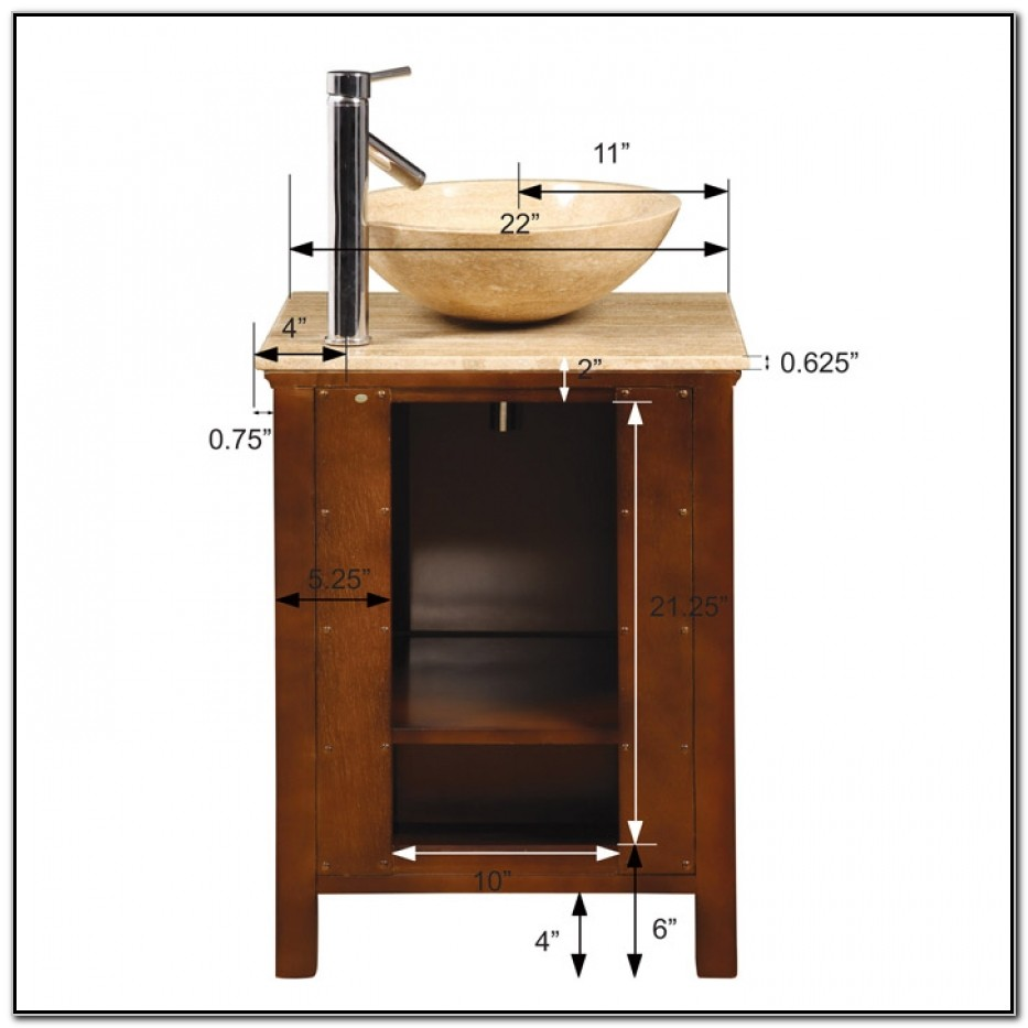 Small Vessel Sink Vanity