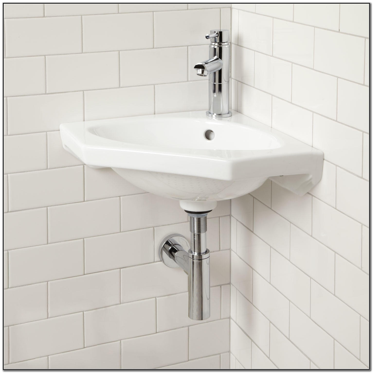 Small Wall Mounted Corner Sink