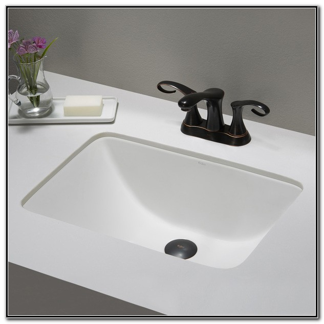 Small White Undermount Bathroom Sink