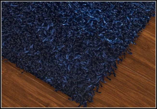 Solid Navy Blue Area Rug
