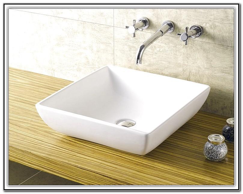 Square Vessel Sink Faucet Combo