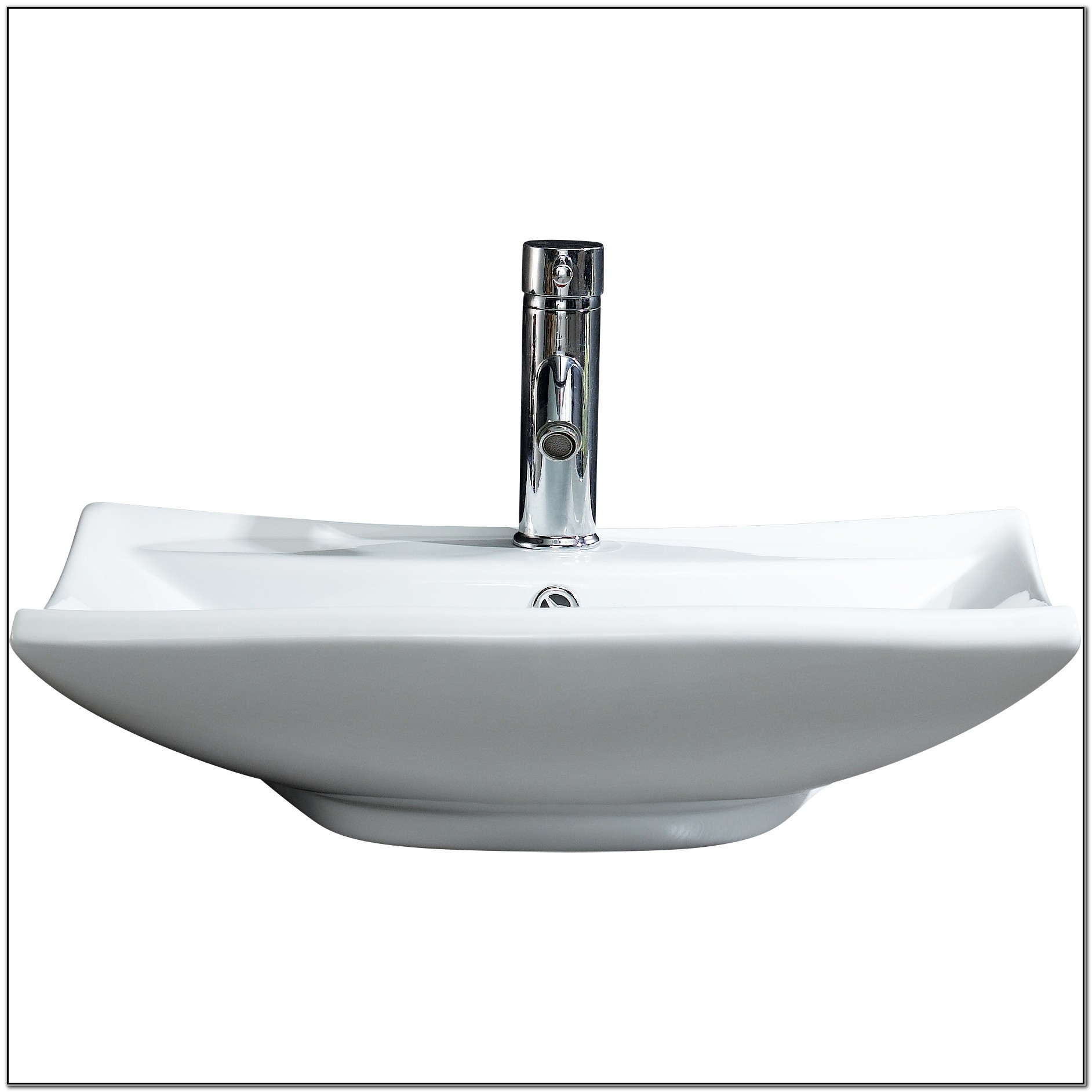 Square Vessel Sink With Overflow