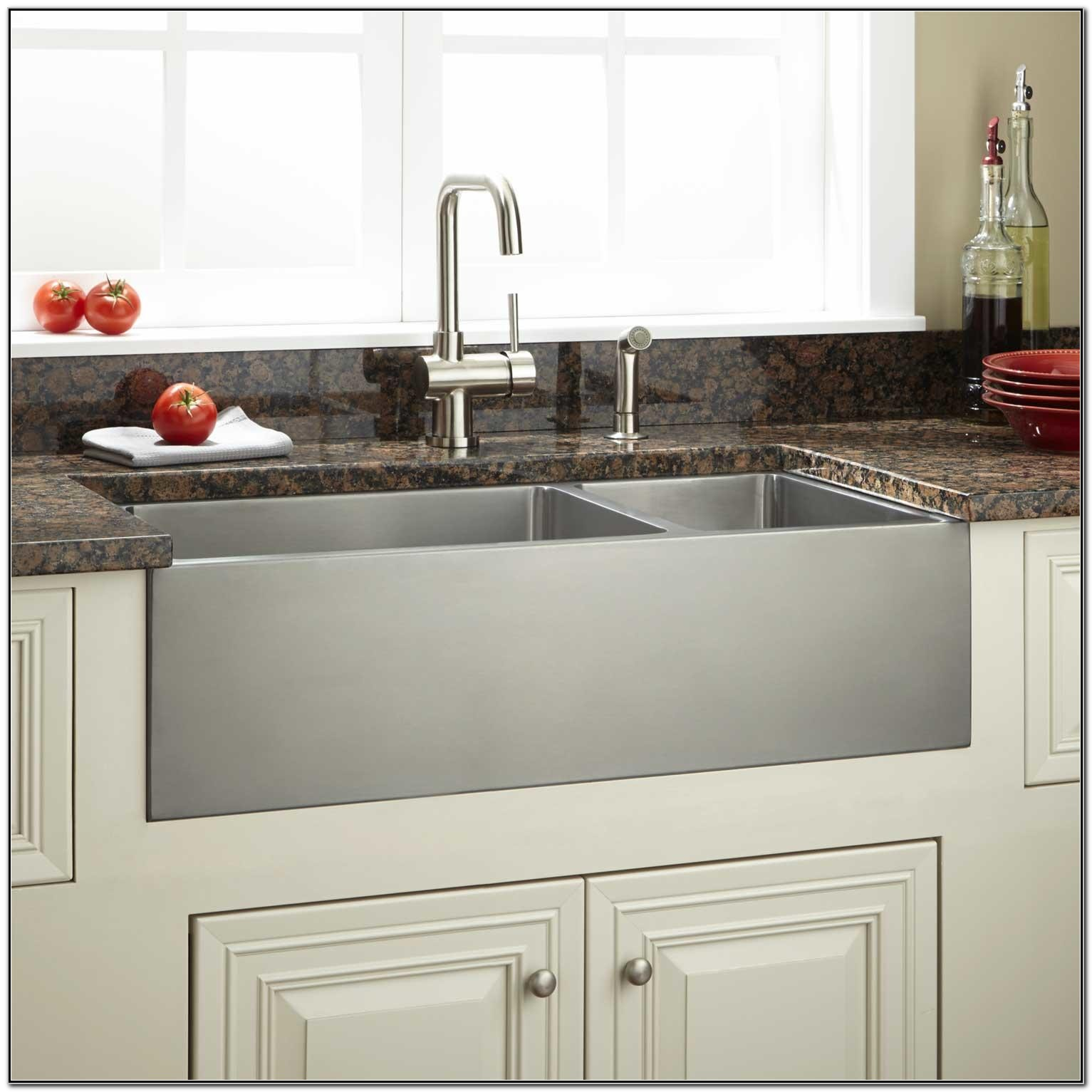 Stainless Steel Farmhouse Sink Images
