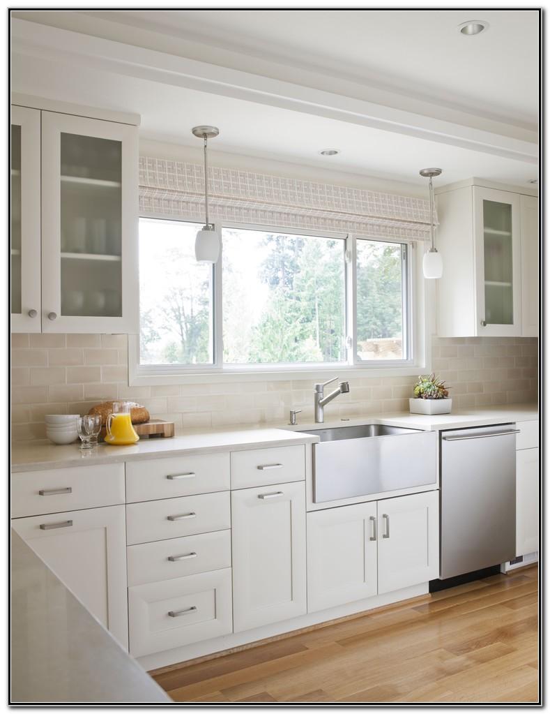 Stainless Steel Farmhouse Sink White Kitchen