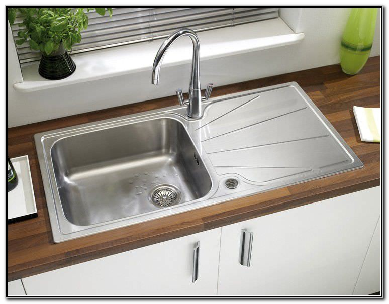 Stainless Steel Kitchen Sink With Drainboard