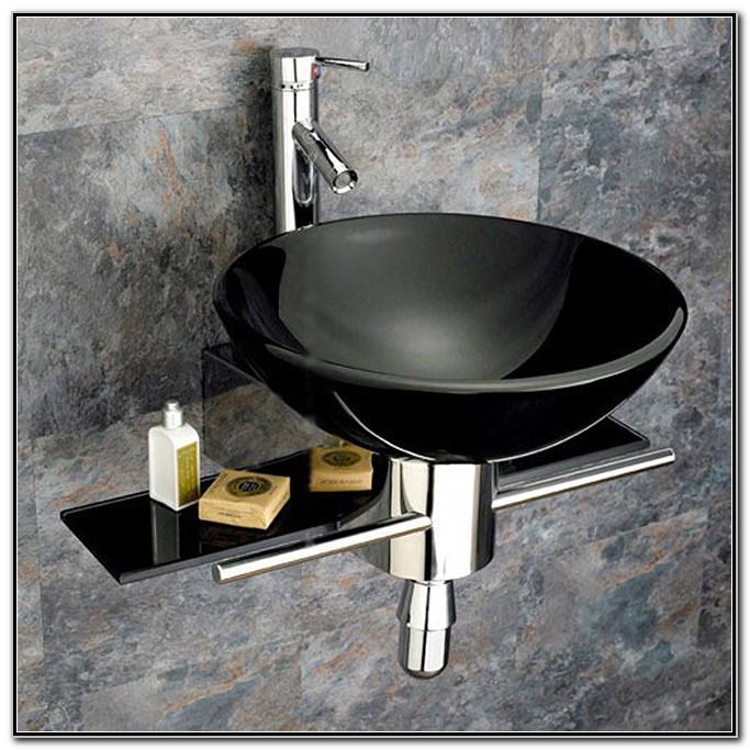 Tempered Glass Vessel Sink Vanity