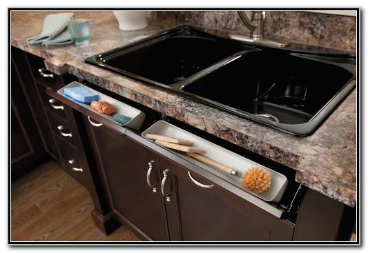 Tilt Out Sink Tray
