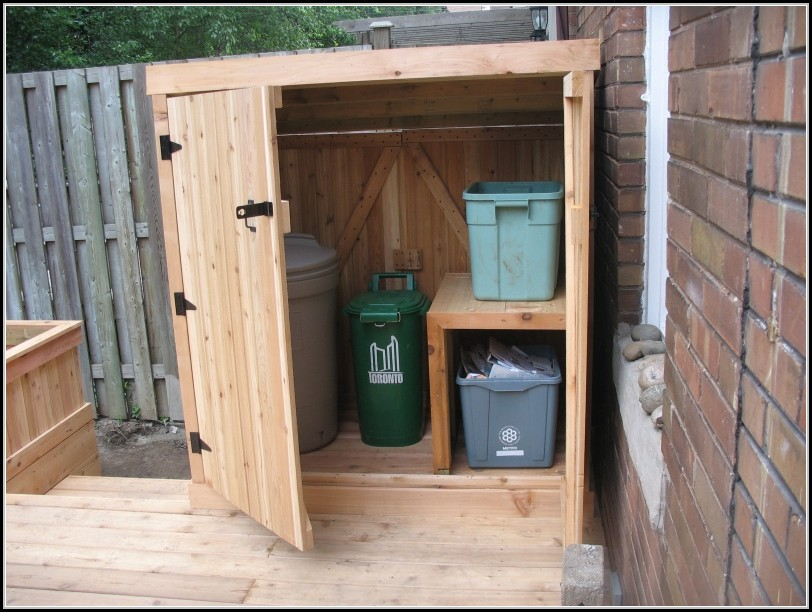 Trash Can Shed Plans Free