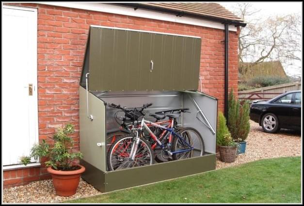 Tri Metal Bicycle Storage Shed