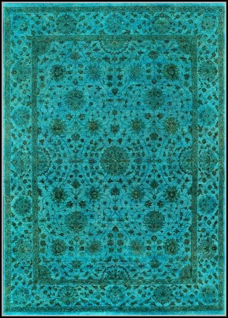 Turquoise Area Rug 9x12