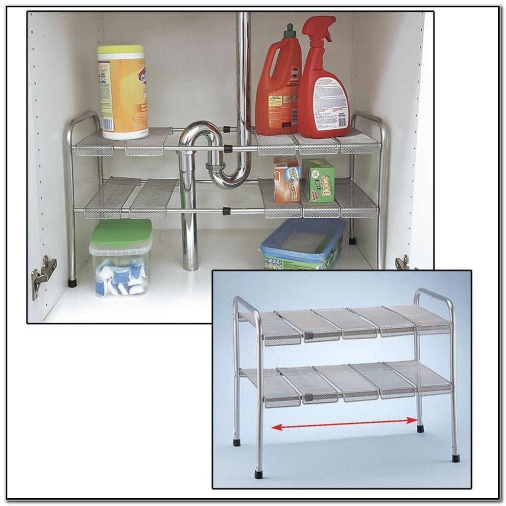 Under Kitchen Sink Shelf Organizer