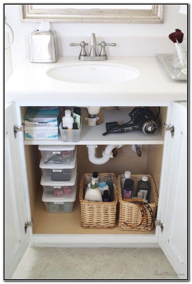 Under Sink Organization Ideas Bathroom