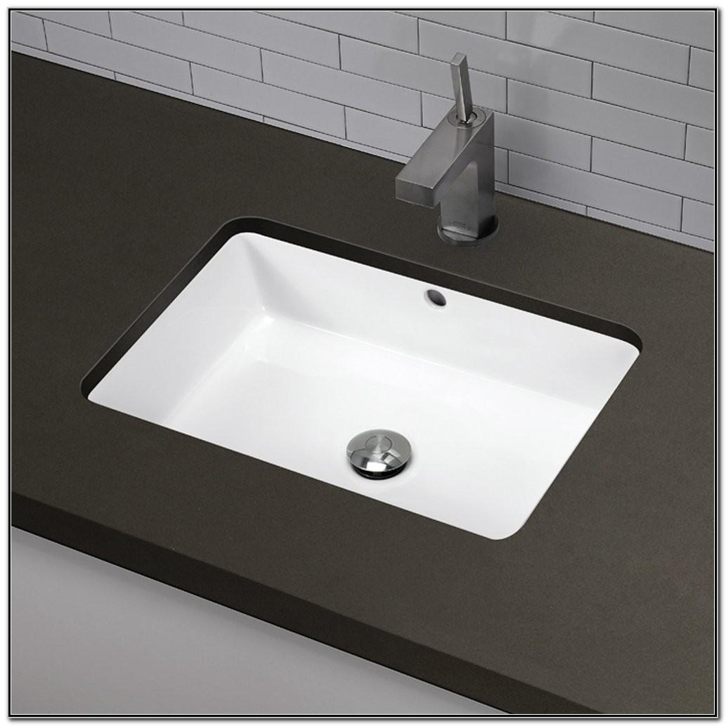 Undermount Rectangular Bathroom Sink Small