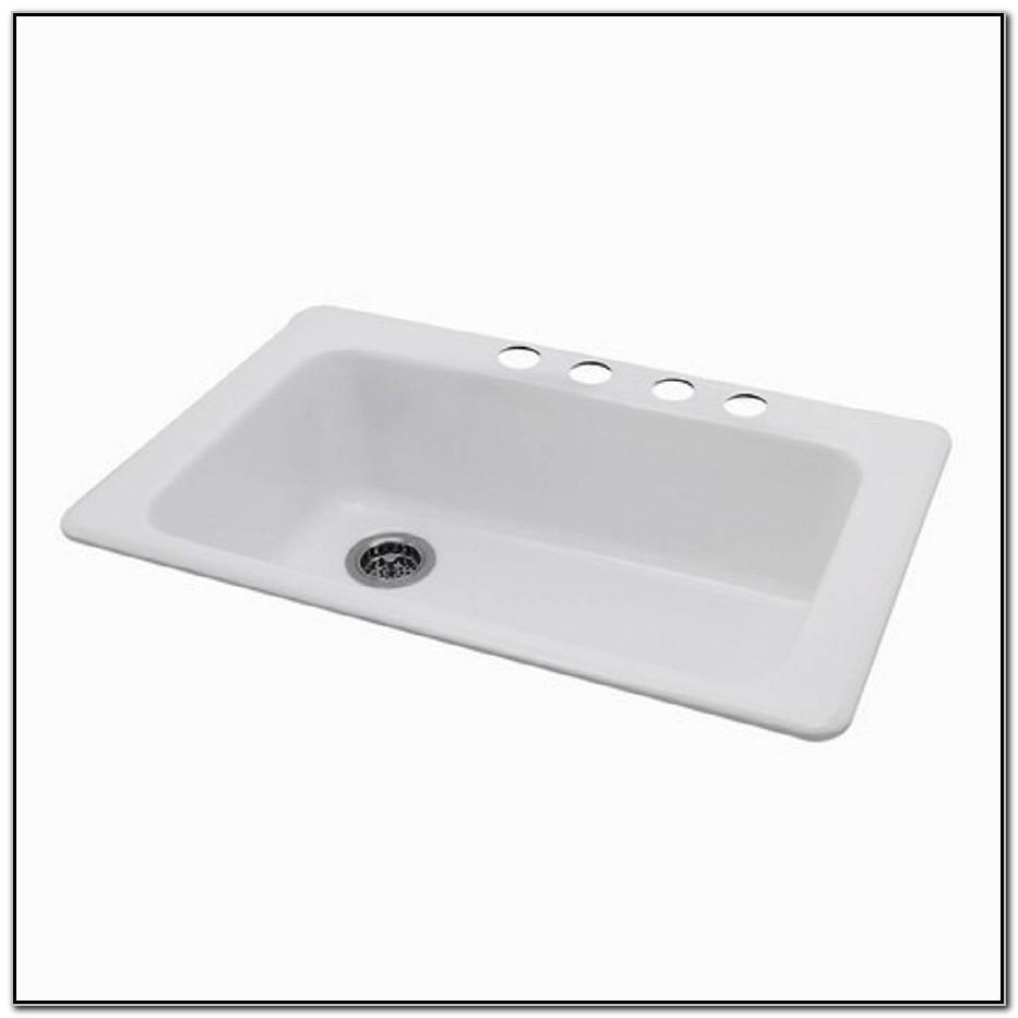 Undermount Single Bowl Porcelain Kitchen Sink