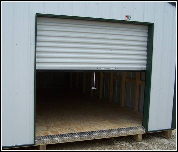 Utility Shed Roll Up Doors