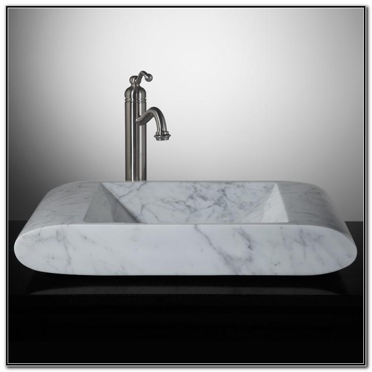 Valens Carrara Marble Vessel Sink