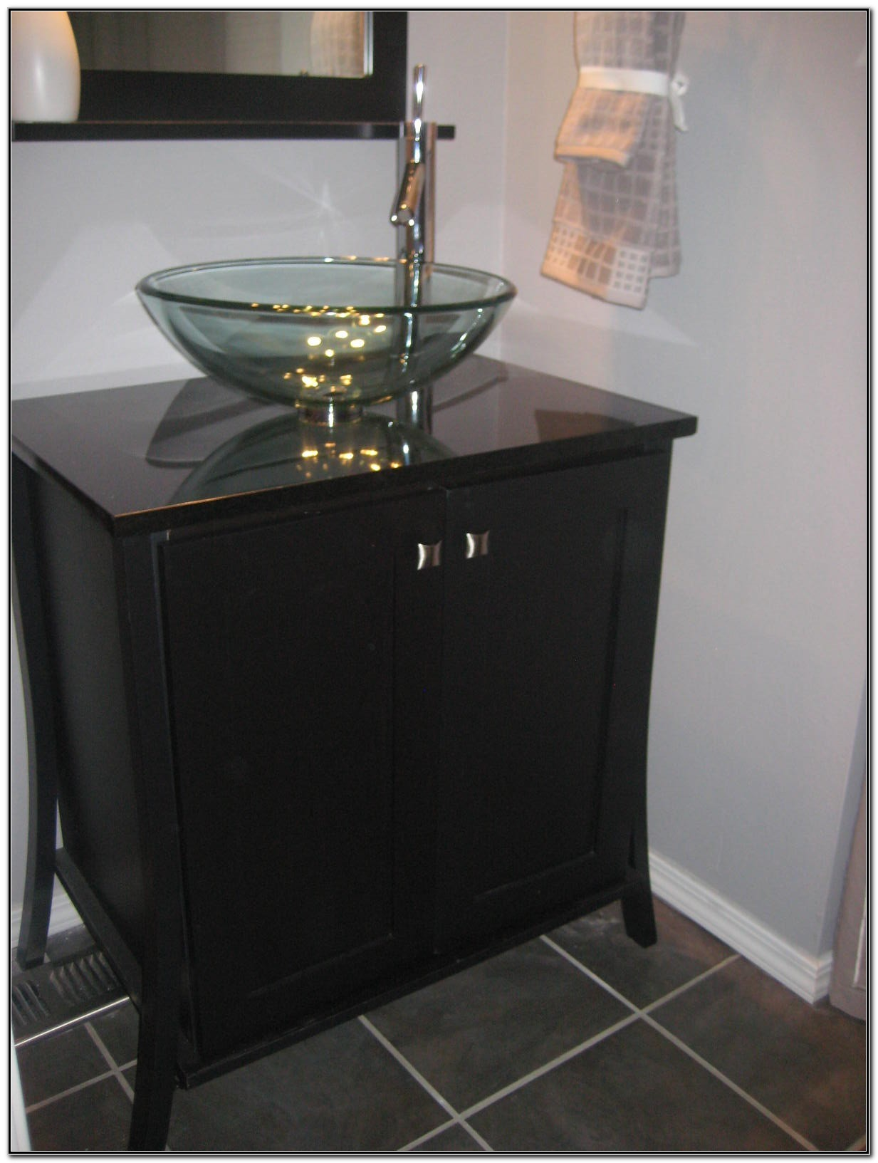 Vanity With Glass Bowl Sink