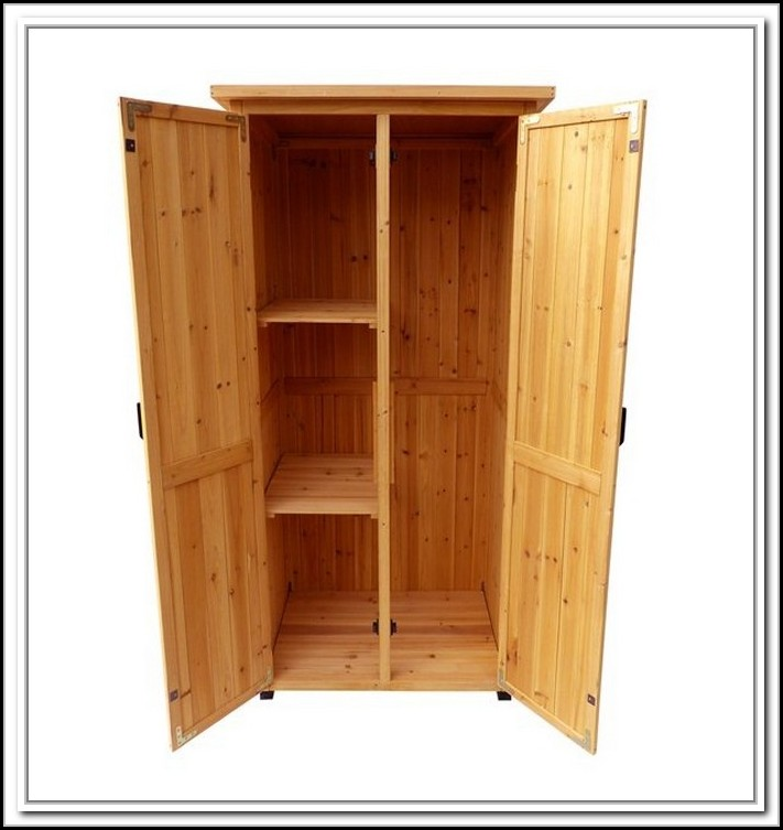 Vertical Storage Shed With Shelves