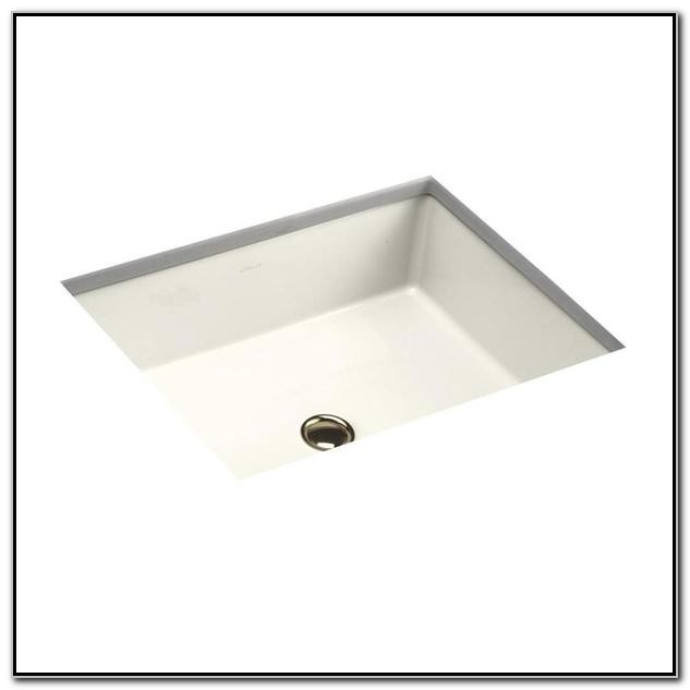 Verticyl Rectangle Undermount Bathroom Sink In White