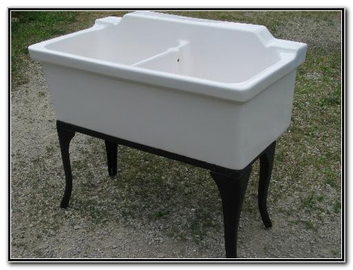 Vintage Porcelain Double Kitchen Sink