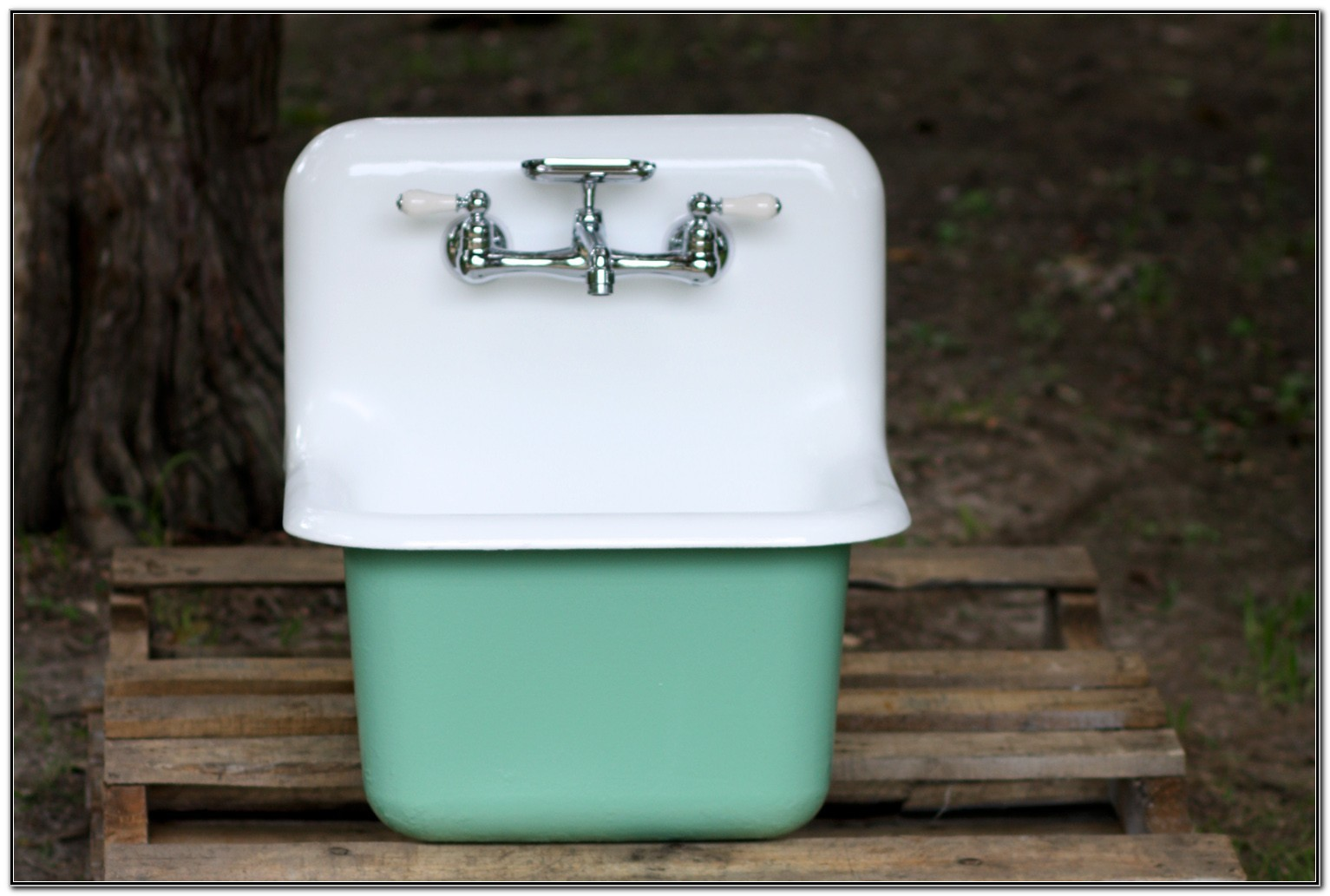 Wall Mount Utility Sink Cast Iron