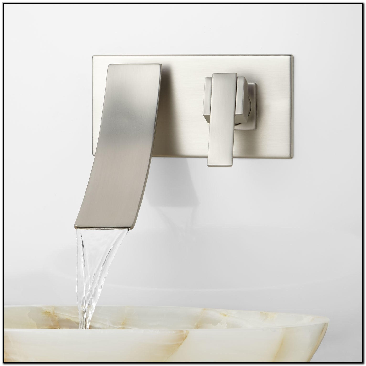 Wall Mounted Waterfall Faucets For Bathroom Sinks