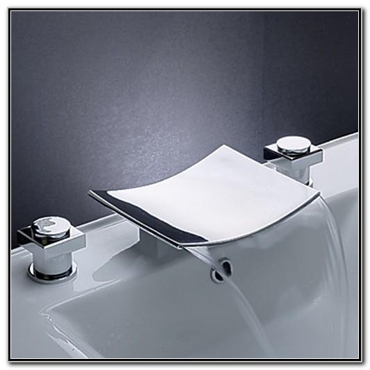 Waterfall Bathroom Sink Faucet