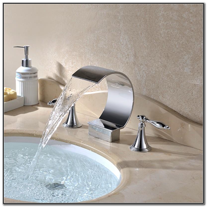 Waterfall Bathroom Sink Faucets