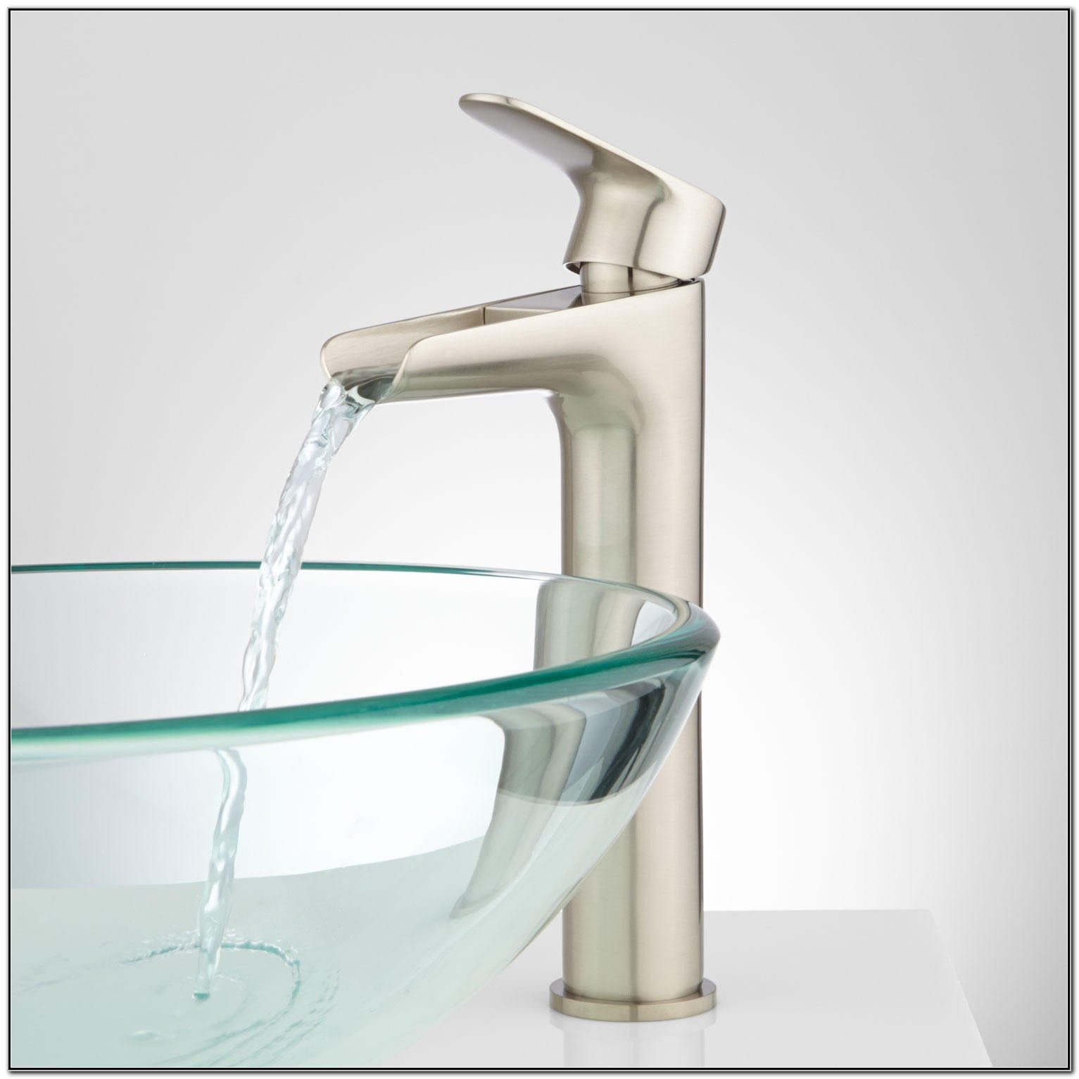 Waterfall Faucet Bathroom Vessel Sink