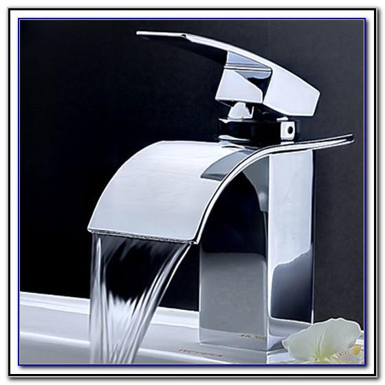 Waterfall Type Bathroom Sink Faucets