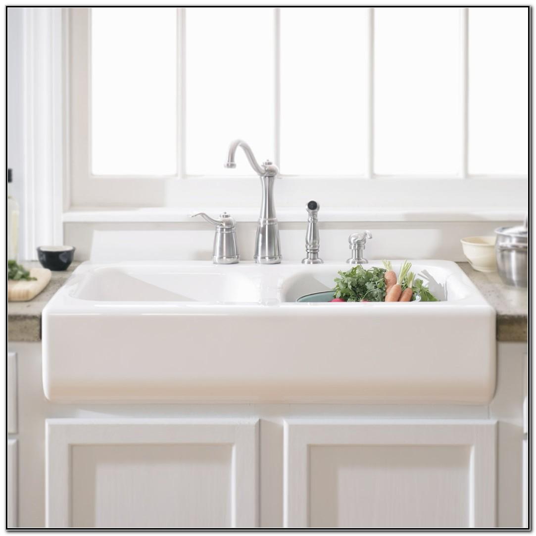 White Apron Front Kitchen Sink