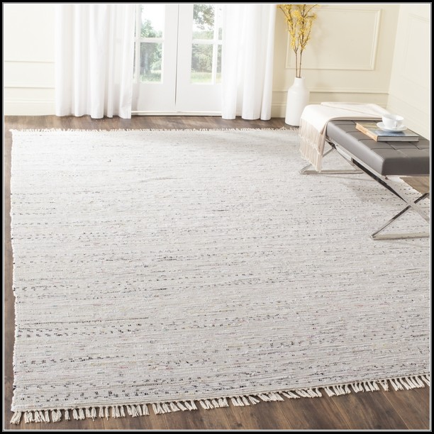 White Cotton Rag Rug