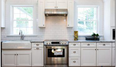 White Kitchen With Farmhouse Sink