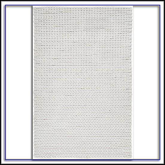 White Natural Fiber Rug