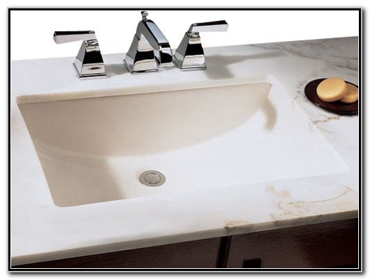 White Porcelain Rectangular Vessel Sink