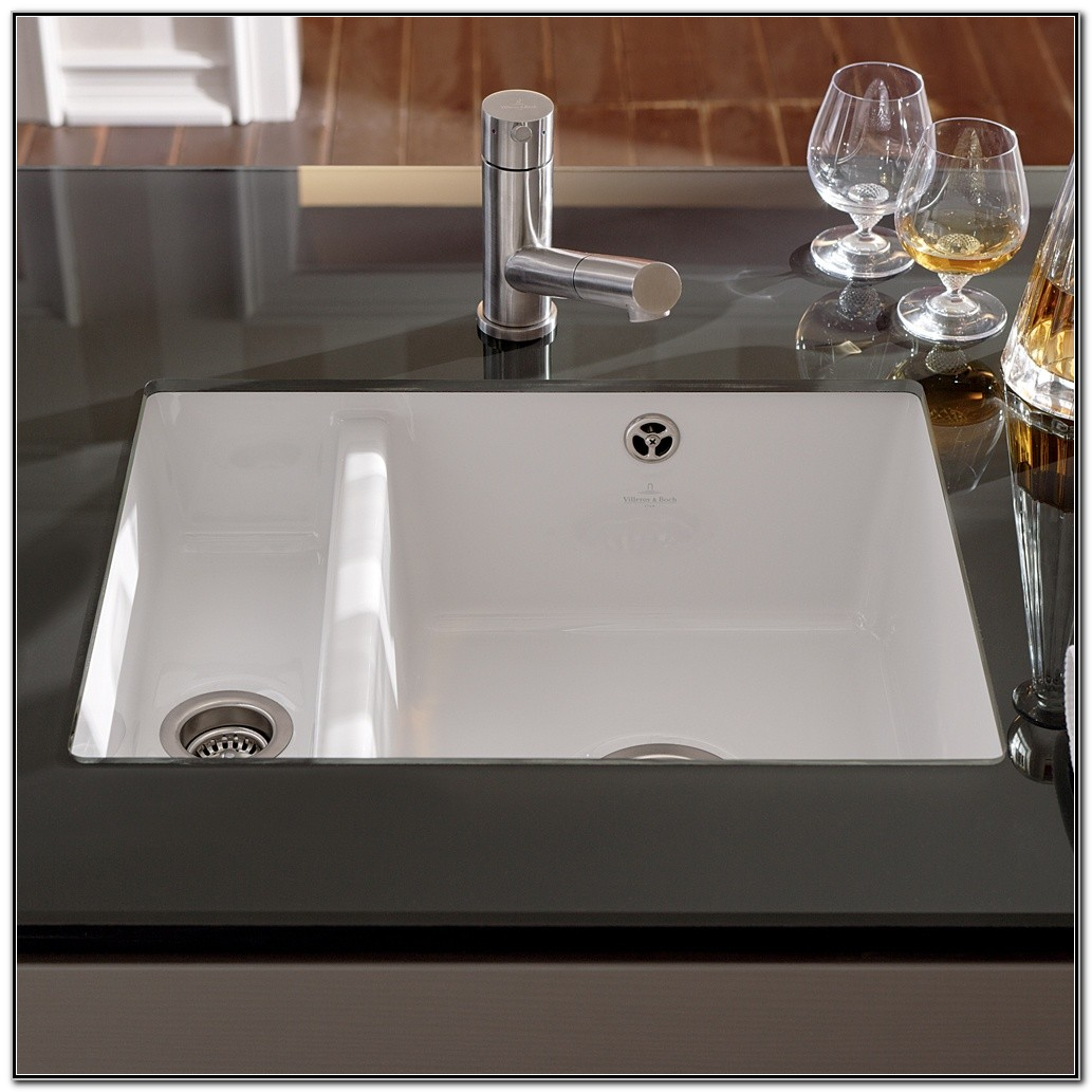 White Porcelain Undermount Kitchen Sink