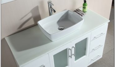 White Porcelain Vessel Sink