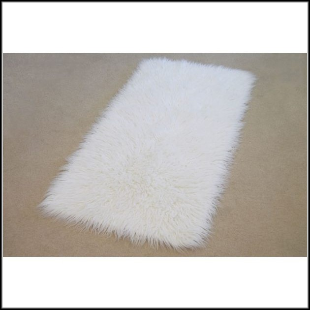 White Sheepskin Rug Rectangle