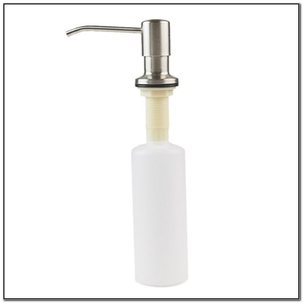 White Soap Dispenser For Kitchen Sink