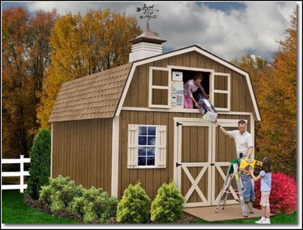 Wood Garden Shed Home Depot