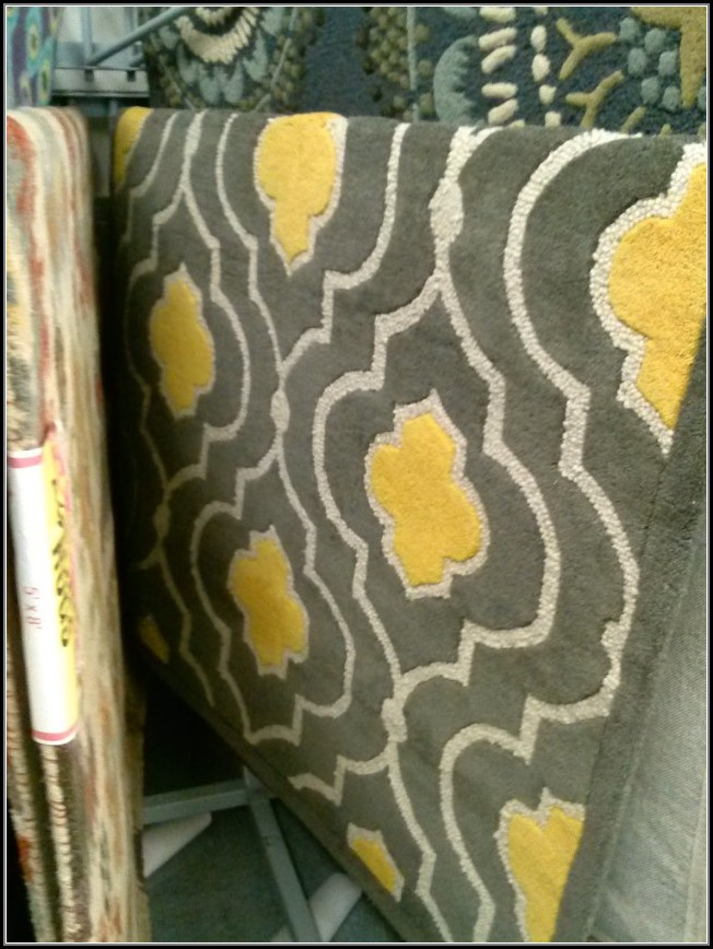 Yellow And Grey Runner Rug