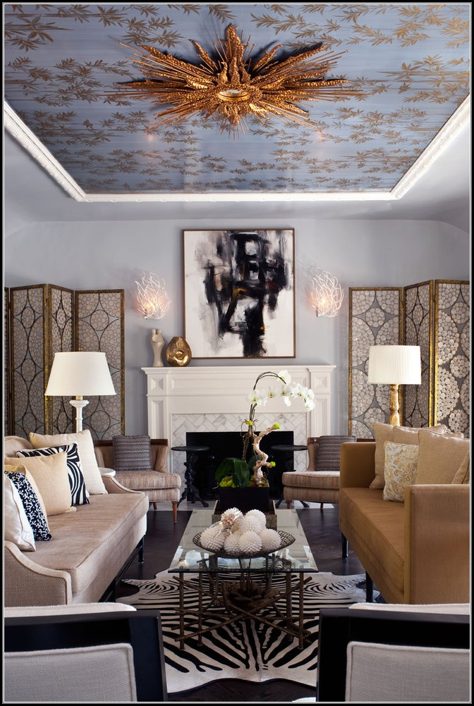 Zebra Hide Rug Living Room